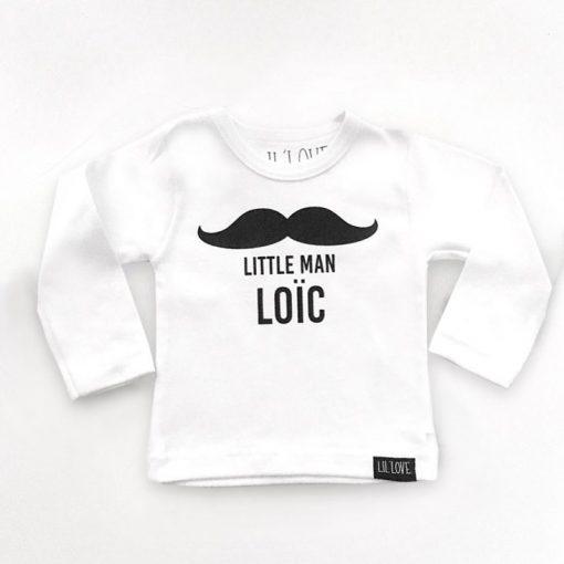shirt met snor met naam