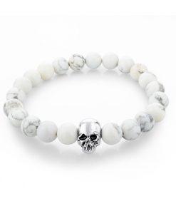 Heren armband skull