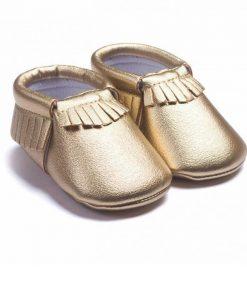 Gouden babyschoentjes mocassin