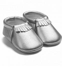 Zilveren babyschoentjes