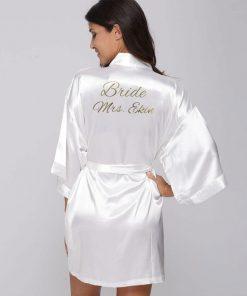 Kimono ochtendjas met naam