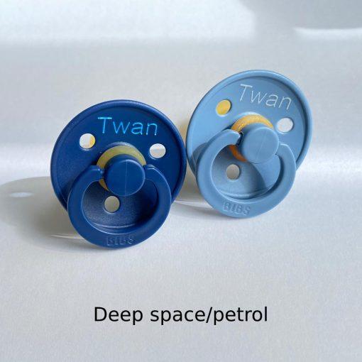 Bibs fopspeen Deep space/petrol