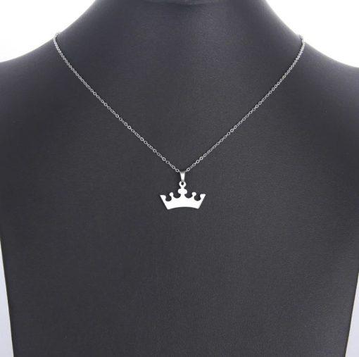 Gegraveerde kroon ketting