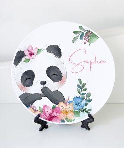 bord met naam Panda
