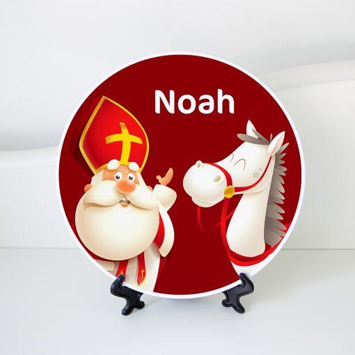 Sinterklaas bord met naam