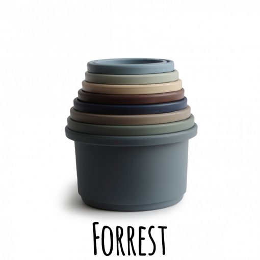 Mushie stapeltoren stacking cups forrest