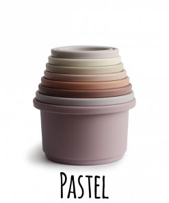 Mushie stapeltoren stacking cups pastel